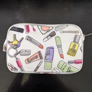 NWOT Clinique Makeup Printed Cosmetic Bag